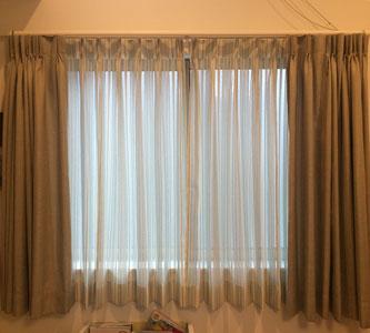 LDK腰窓カーテン